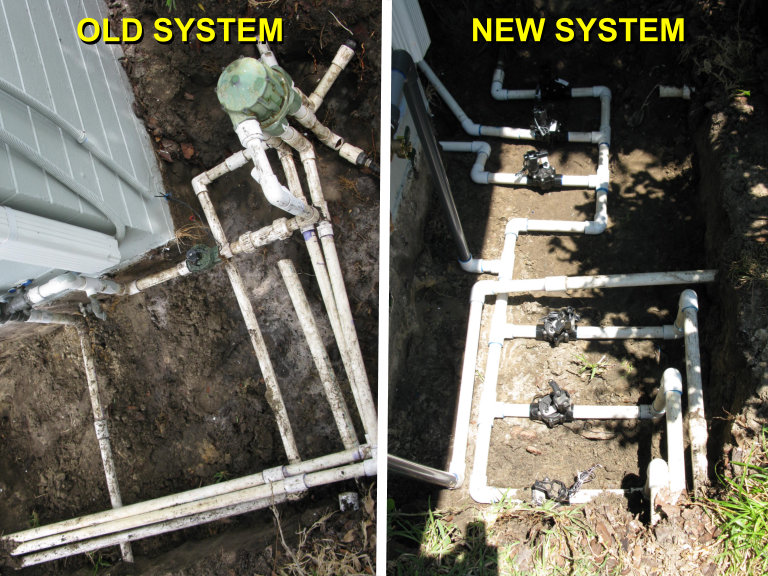 old new irrigation systems compared