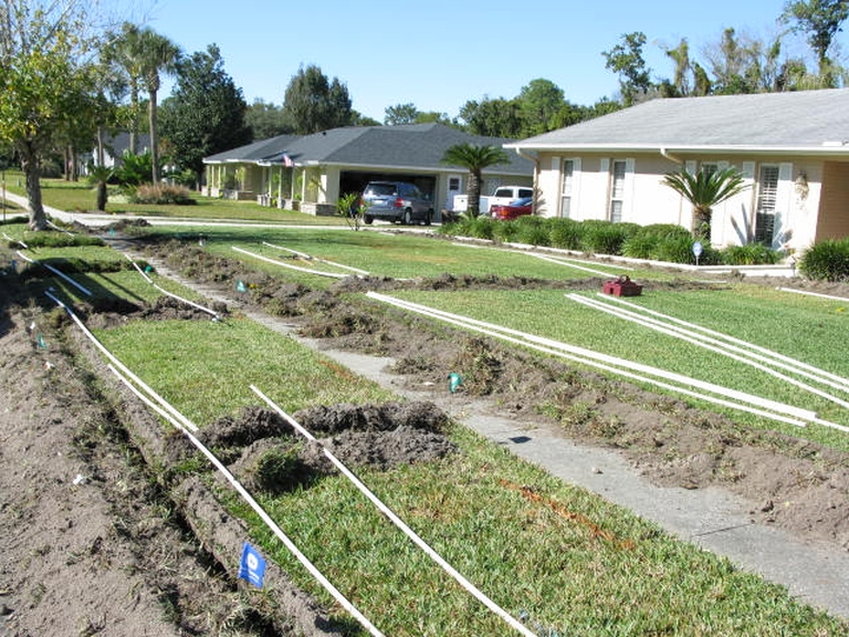 irrigation system installation phase one