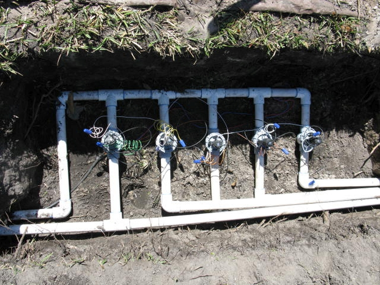 residential irrigation valve replacement project
