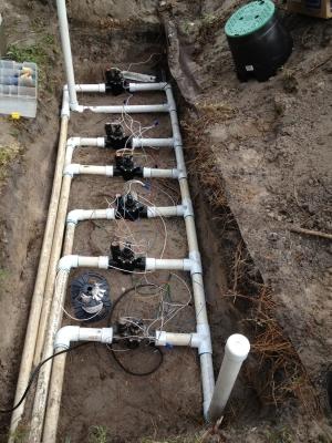 electric irrigation valve conversion installation
