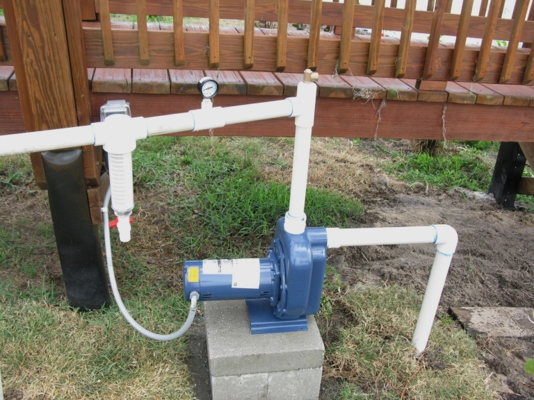 potable to lake water conversion system